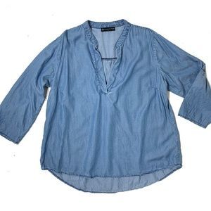 Fashion to Figure FTF Chambray Top
